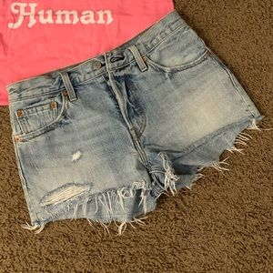 Levi's 501 shorts Size 27 and graphic tee small